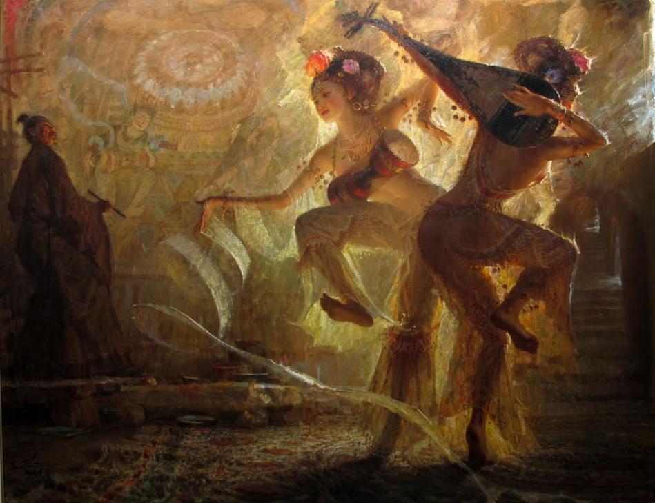 Nella danza  asseconda il movimento.