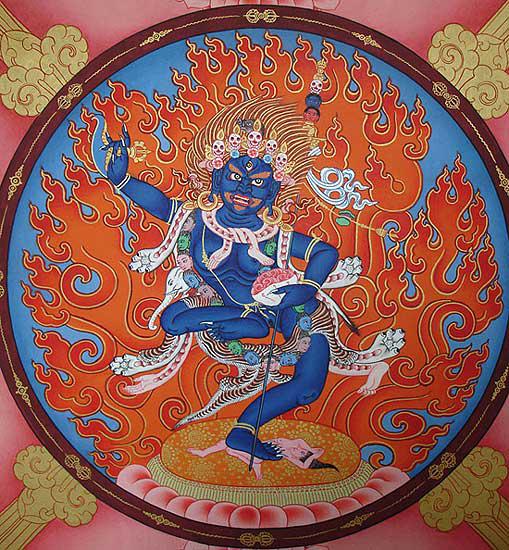 Troma Nagmo, protettrice dell'Insegnamento e dei praticanti Bon. Rappresenta la capacità della mente di trovarsi nello Stato Naturale, nello spazio radiante che è pura energia.